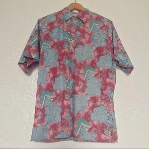 Go Barefoot Men's Hawaiian Aloha Button Down Shirt